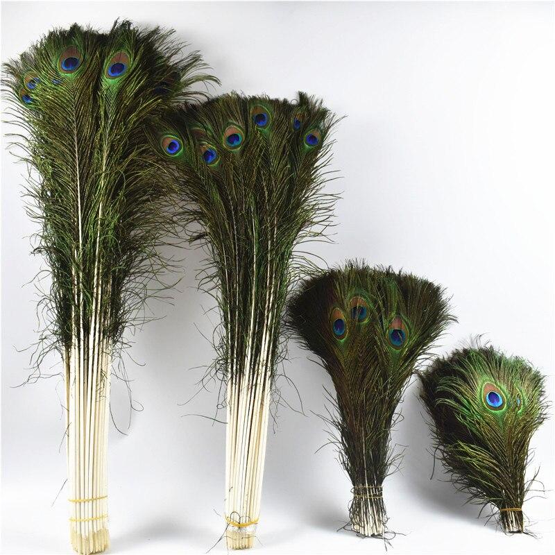50 pz/lotto Reale Naturale di Piume di Pavone Per Artigianato 25-80cm vestito è con La decorazione Domestica Dell'hotel camera vaso decorazione di cerimonia nuziale piume