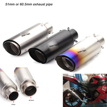 250mm Short Stainless Steel Exhaust Silencer System Link 51mm 60.5mm Header Motorcycle Pipe