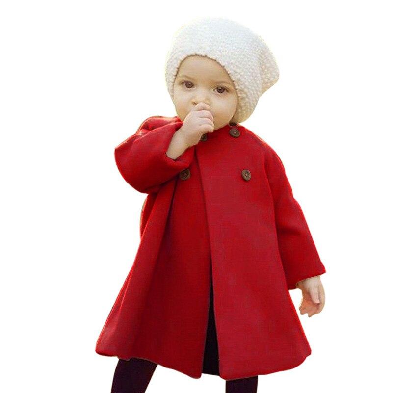 2018 neue Stil Herbst Winter Mädchen Kinder Baby Outwear Mantel Taste Jacke Warme Mantel Kleidung vestido infantil Für kid QC3