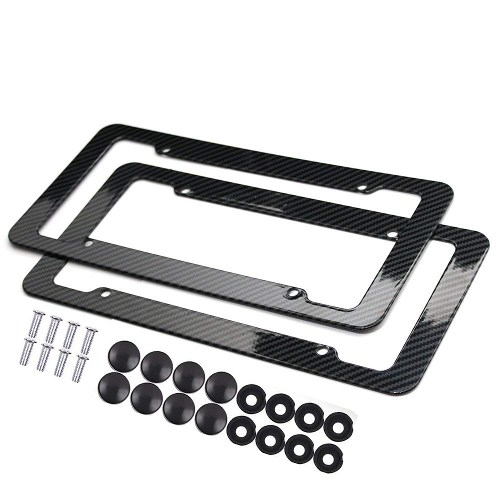 2 Pcs Slim Bottom Us Standard Polished Stainless Steel License Plate Frame Caps Included Chrome In From Automobiles Motorcycles On