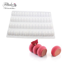 Modular Flex Infinity Rectangle Wave Shaped Baking And Dessert Silicone Mold 4 Channels Cake Mold Mousse