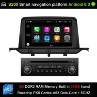 Android 8.0 system PX5 Octa 8 Core CPU 2G Ram 32GB Rom Car DVD Radio GPS Navigation for Citroen C3/Aircross/Picasso 2008 2013