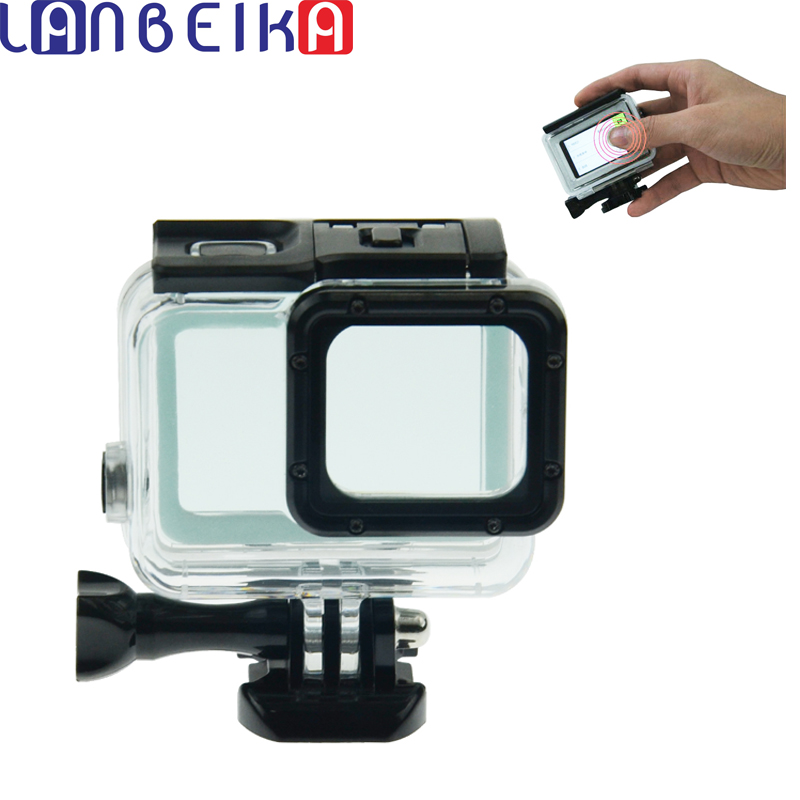 LANBEIKA For Gopro Hero 6 5 Touchbackdoor Diving Waterproof Housing Case 45m for Gopro Hero 6 5 Go pro5 Gopro6 gopro hero6 lanbeika for gopro hero 6 5 touchbackdoor diving waterproof housing case 45m for gopro hero 6 5 go pro5 gopro6 gopro hero6