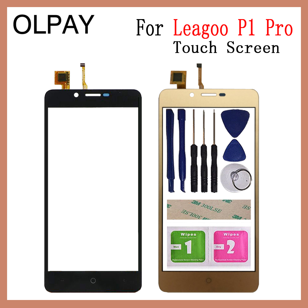 OLPAY 5.0'' Mobile Phone Touchscreen For Leagoo P1 Pro Touch Screen Glass Digitizer Panel Lens Sensor Glass Free Adhesive+Wipes