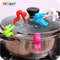 1PCS Multifunction Spoon Rests Pot Clips Silicone Prevents Spill Soup Overflowing Cooking Gadgets Tools Lids Holder