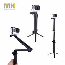 GoPro 3-pásmová skládací rameno Monopod + stativ + rukojeť Super přenosný magický držák Selfie Stick pro GoPro SJ4000 SJ4000 Action Camera