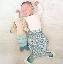 Mermaid Sleepsack Baby cotton Sleeping Bag Animal Shark sleeping blanket baby clothing for Newborn