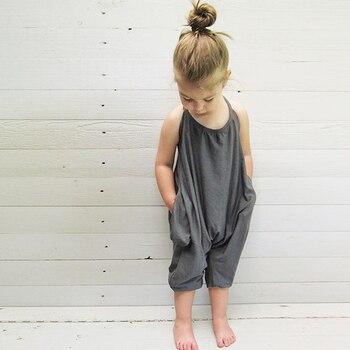 2018 Fashion Children Newborn Girls Belt Cotton Sliders Overalls Harem Pants Summer Clothes overallsMBR0120 1
