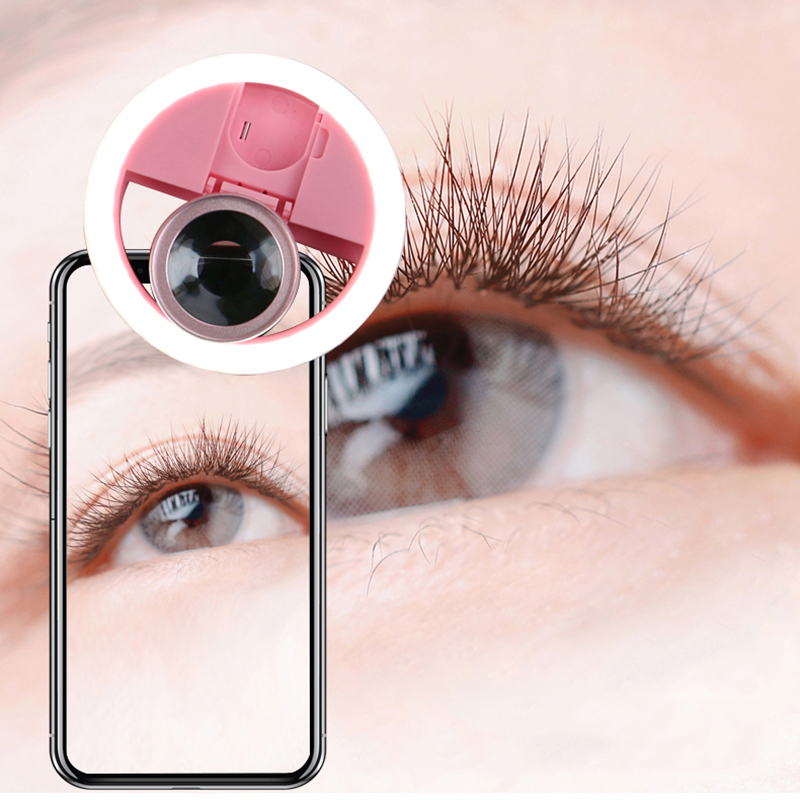 2 In 1 Mobile Phone Selfie Ring Flash Lens Beauty Fill Light Lamp Portable Clip For Photo Camera For Cell Phone Smartphone