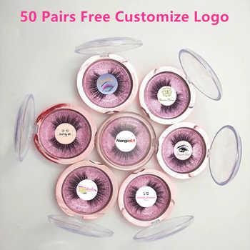 Mangodot Free Customizing Logo 50 Pairs 18Styles Eyelashes Make logo False Eyelash 3D Mink cilios Lashes logo Customization - Category 🛒 Beauty & Health