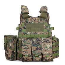 цена на New 6094 Tactical Vest Airsoft Sport Paintball Body Armor Protection Vests With Magazine 3 Pouches Hunting Military Combat Vest