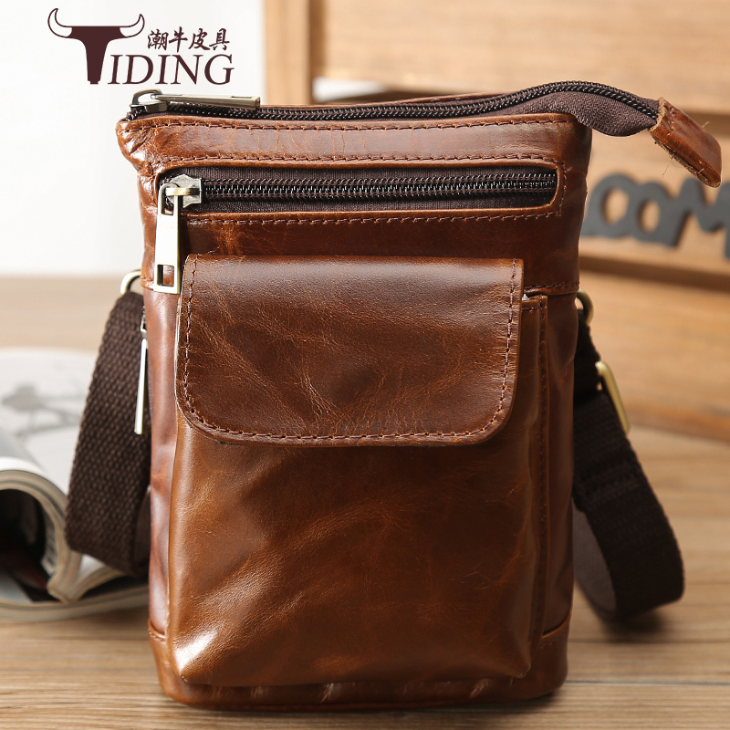 Messenger Bags Small Cow Leather Men2018 Vintage Black Travel Real Leather Brown Waist Mini Mobile Phone Crossbody ShoulderBags Messenger Bags Small Cow Leather Men2018 Vintage Black Travel Real Leather Brown Waist Mini Mobile Phone Crossbody ShoulderBags