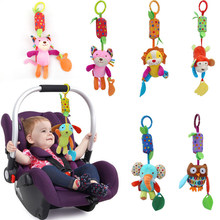 12 Colors New Infant Toys Mobile Baby Plush Toy Bed Wind Rattles Bell Toy Stroller For Newborn Bed Safety Seat Plush Toy(China)