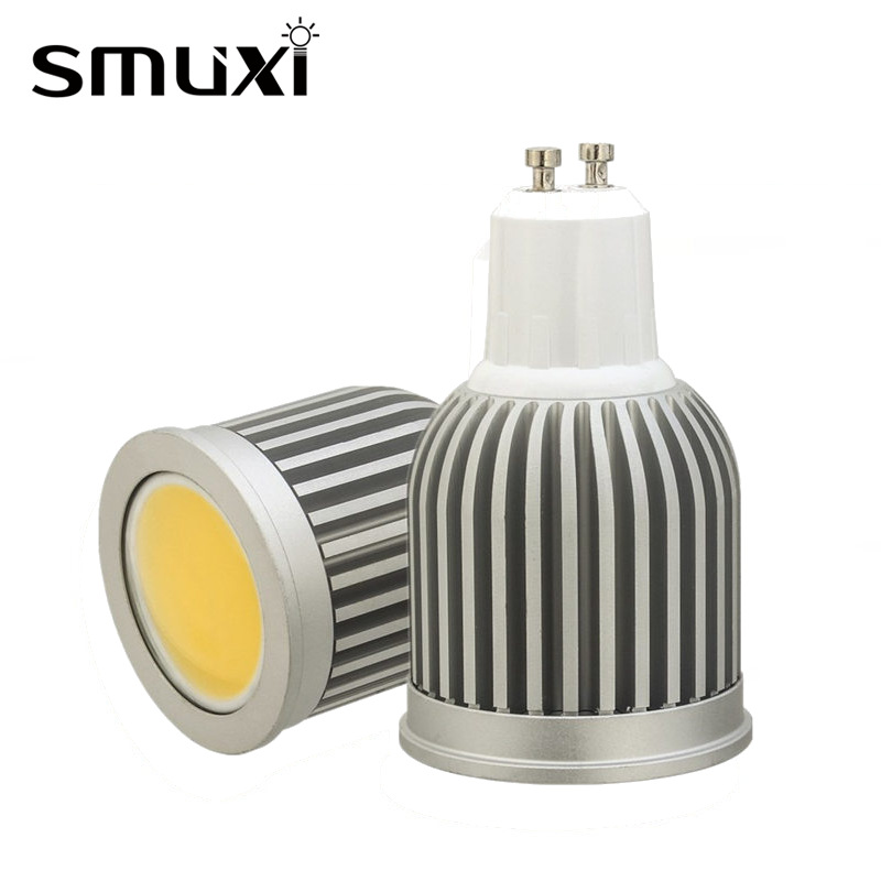 Smuxi GU10 COB LED Bulb 3W 5W 7W Aluminum Spot Light Bulb Energy Saving LED Lamp Decor Lighting Lampada AC85-265V enwye e14 led candle energy crystal lamp saving lamp light bulb home lighting decoration led lamp 5w 7w 220v 230v 240v smd2835
