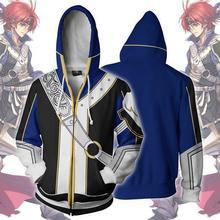 Game Fire Emblem Cosplay Costume Hoodies Zipper Clothing hooded sweatshirt casual hoodie Coat Jacket Sweater plus size