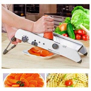 Image 4 - 18 soorten Gebruik Mandoline Slicer Groentesnijder Rvs Multifunctionele Fruit Ui Aardappel Cutter Chopper Keuken Gadgets