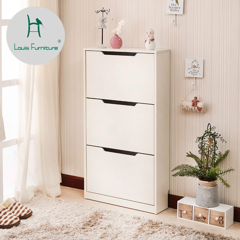 Louis Fashion Shoe Cabinets Ultrathin Dust Prevention Creativity Simple Modern Combination