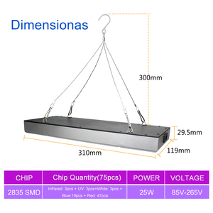 Image 2 - Growing Lamps LED Grow Light 25W 45W AC85 265V Full Spectrum Plant Lighting Fitolampy For Plants Flowers Seedling Cultivation