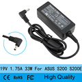 19V 1.75A 33W AC laptop power supply adapter cable wall charger for Asus Ultrabook S200 S200E L X200T F201E Q200E X201E X202E