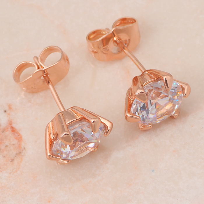 rose gold Tone Zircon Multicolor Crystal Jewelry Sets Earrings Necklace pendant for women Fashion Jewelry JS369