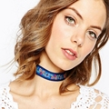 Fashion jewelry bohemian style flower design weaving friendship choker necklace gift for women girl  N1859