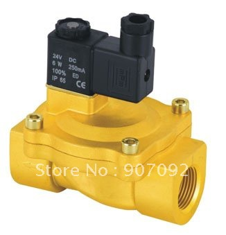 3/4'' Pilot Operated Solenoid Valve 2 Way Brass Valve 2V250 20 Air Oil Water