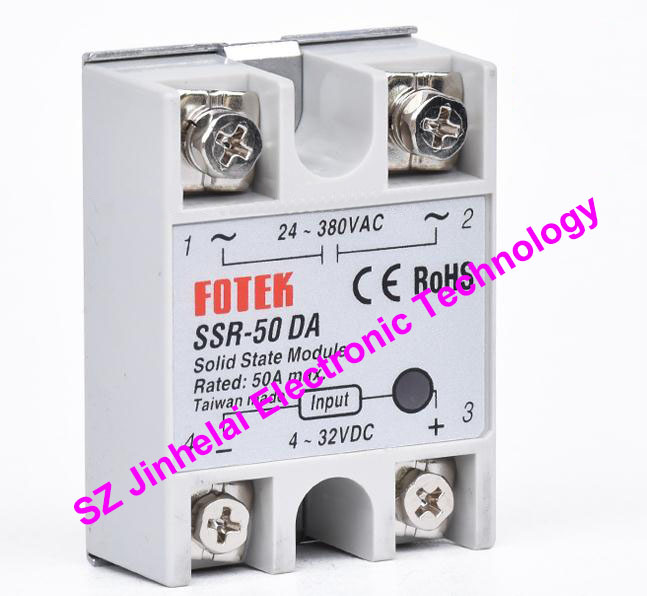 New and original FOTEK Single-phase solid state relay  SSR-50DA   50A normally open single phase solid state relay ssr mgr 1 d48120 120a control dc ac 24 480v