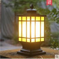Villa European pillar lamp outdoor waterproof pillar lights landscape garden lights