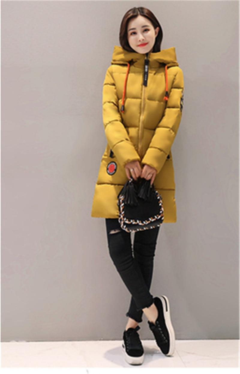 HTB1oCeDKf5TBuNjSspcq6znGFXaF Parka Women 2019 Winter Jacket Women Coat Hooded Outwear Female Parka Thick Cotton Padded Lining Winter Female Basic Coats Z30
