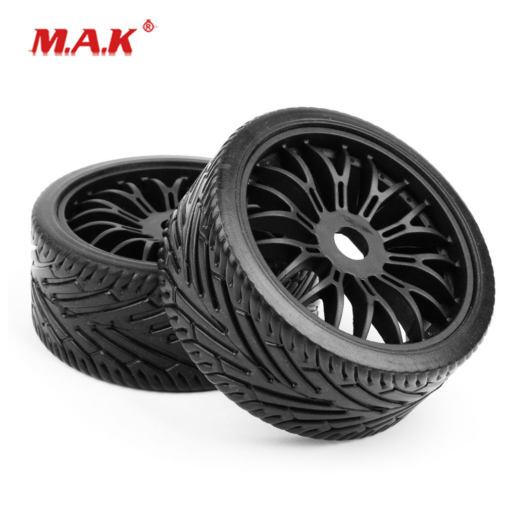 4Pcs/Set 1:8 Scale Flat Off Road  Wheel Tires Tyre With 17mm Hex Fit HPI HSP Buggy RC Car Model Toys Accessories
