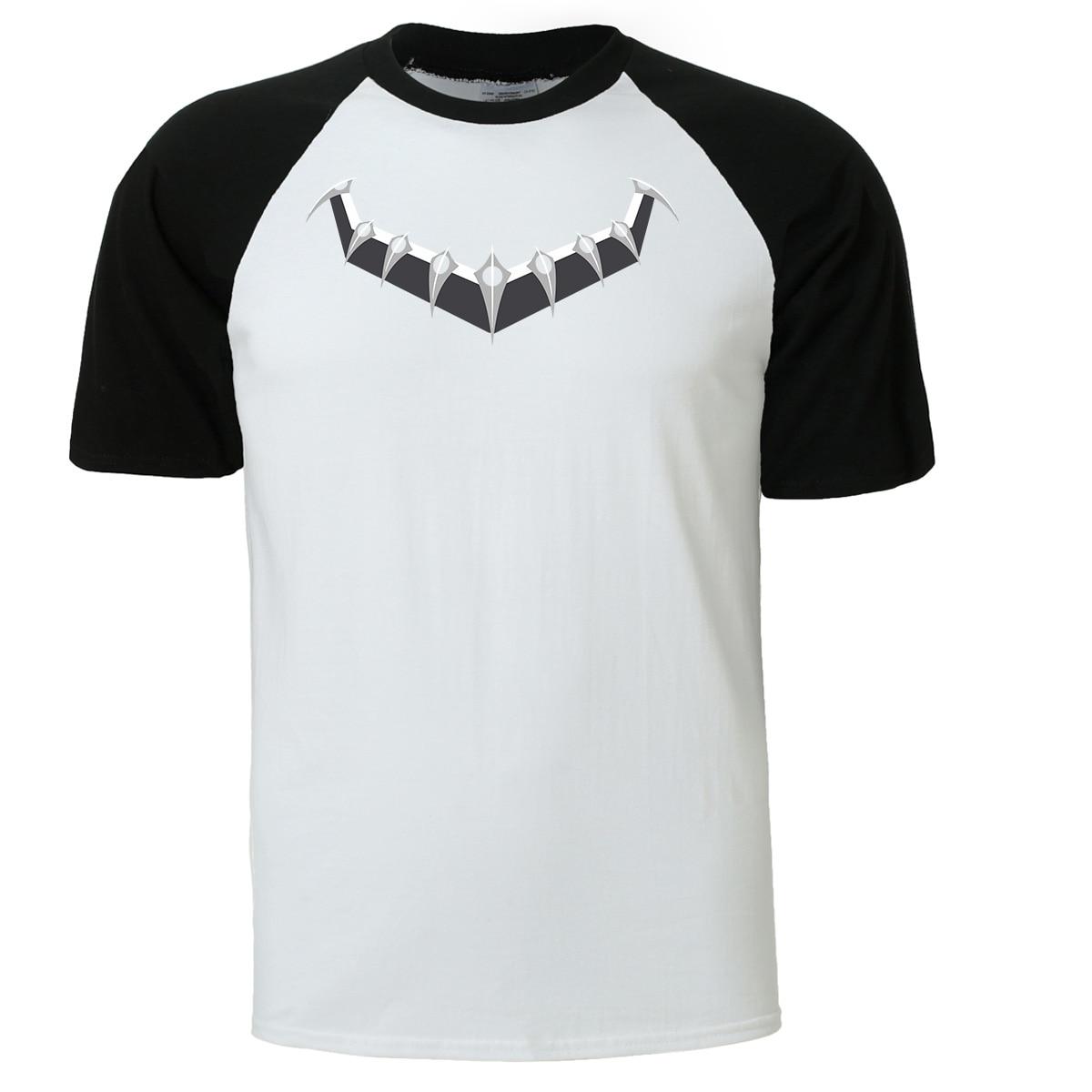 Superhero BLACK PANTHER T Shirt Men 2019 Fashion Summer Spring Cotton Man's T-shirt Hip Hop Top Tee Shirts Streetwear T-shirts