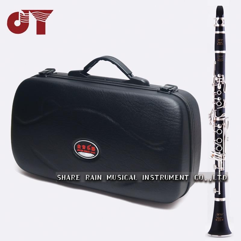 Autorización oficial JINYIN clarinete Chapado en plata teclado abajo afinación B examen de nivel principiante JYCL-2000S