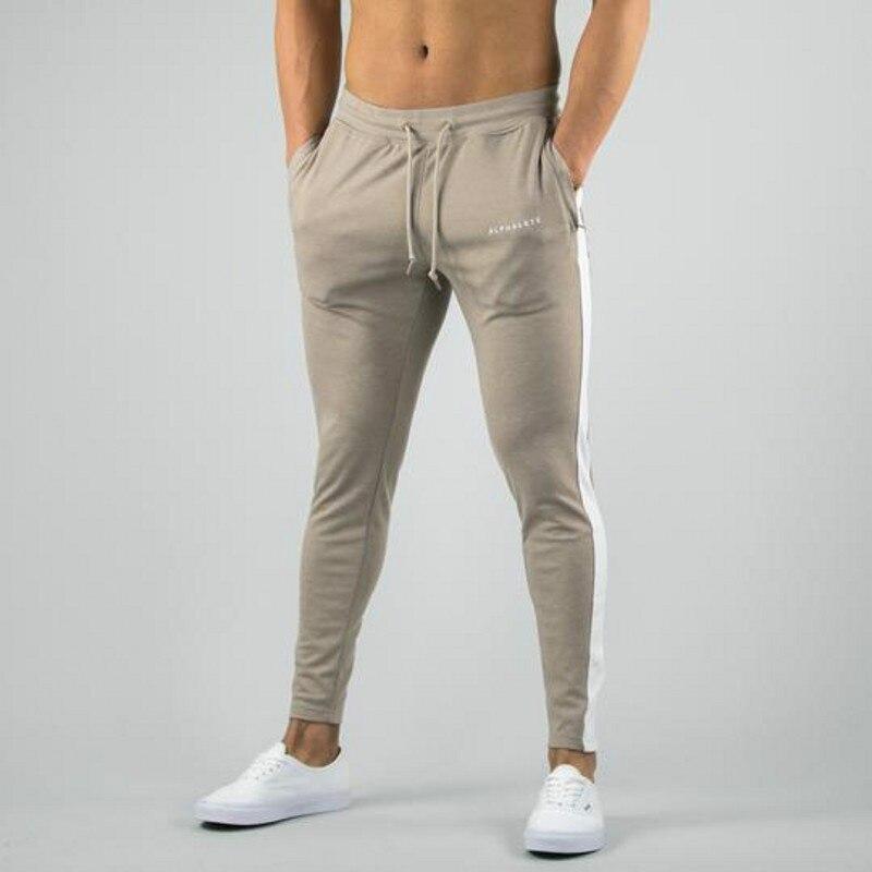 2019 Baumwolle Männer Hosen Jogginghose Sportswear Casual Elastische Herren Fitness Workout Hosen Dünne Hosen Jogger Hosen