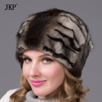 Woman in winter fur hat all true mink fur hat with floral pattern good quality luxury fashion female hat free shipping DHY 68