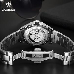 Image 5 - Часы наручные CADISEN Мужские механические, брендовые роскошные стальные автоматические деловые водонепроницаемые