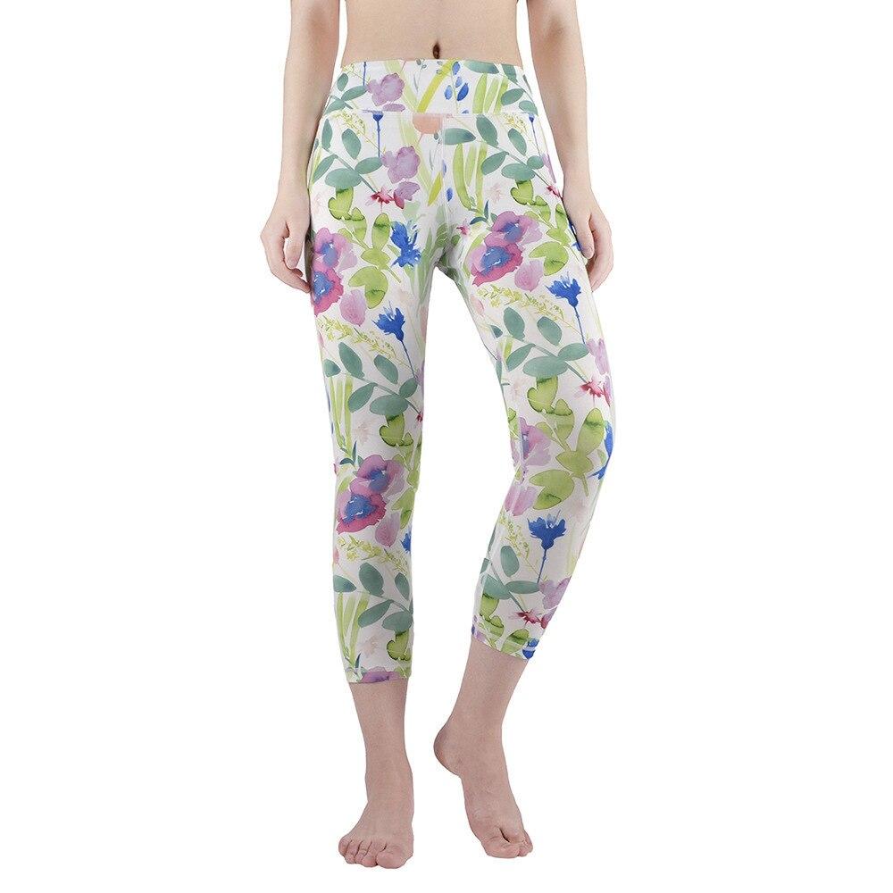 Beautiful printing Women Yoga Leggings Yoga Pants Leggins Sport Women Fitness Gym Sport Leggings Soft Flexible Running Exercise