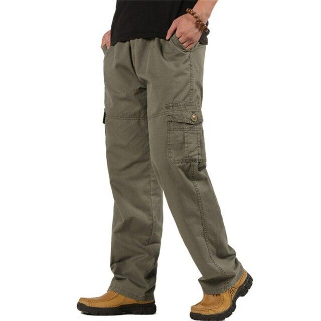 5XL 6XL pantalones de carga de talla grande para hombre Pantalones tácticos  de combate militar sueltos 28172f97a783