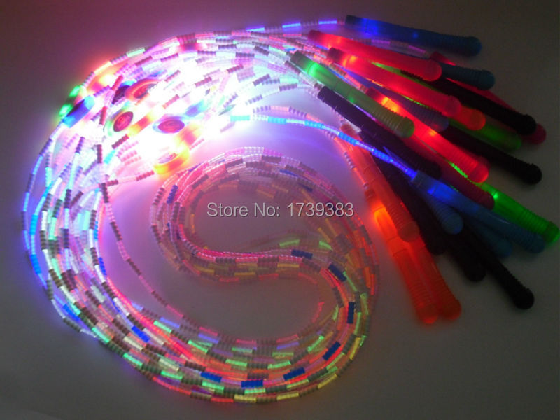 20pcslot colorful led glow skiing rope flash light up skipping jump 20pcslot colorful led glow skiing rope flash light up skipping jump rope kids light up toys in novelty lighting from lights lighting on aliexpress aloadofball Choice Image