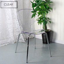 Modern Design Stackable Transparent Acrylic Dining Chair, Clear Cafe Chair, Meeting Loft Chair, fashion design Crystal Chair 1PC(China)