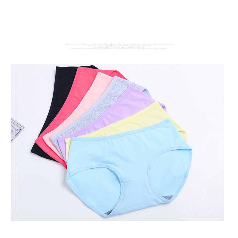 b9a239b25337 ... LANGSHA 7PCS/LOT Women Panties Women Cotton Briefs Solid Everyday  Seamless Panties Sexy Lady Underwear