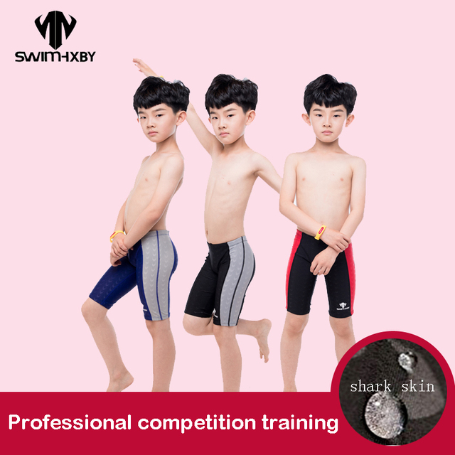 90b5167939 Cheap HXBY Swimming Trunks Boys Swimwear Training Children's Swimsuit For  Boy Baby Professional Competition Men's Swimming