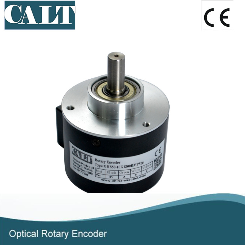 Free shipping GHS5810 motor optical encoder rotary encoder with 1m cable side npn output A B Z free shipping 25mm optical encoder micro opto 4mm shaft 500 1024 p rotary pulse encoder a b z pohotoelectric angle sensors ghs25