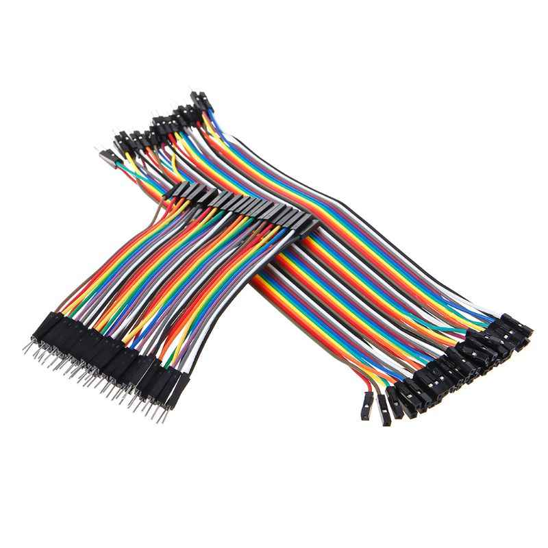 Ligne de fil de cavalier de câble de 40Pin Dupont 2.54mm mâle à câble de connecteur femelle pour ARDUINO 10/20/30CM