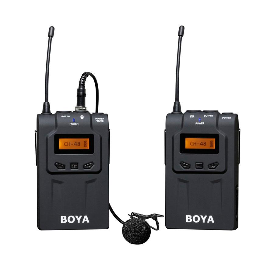 BOYA BY WM6 Professional беспроводной микрофон системы 48 канала всенаправленная нагрудная гарнитура нагрудные микрофоны для DSLR видеокамеры Mic