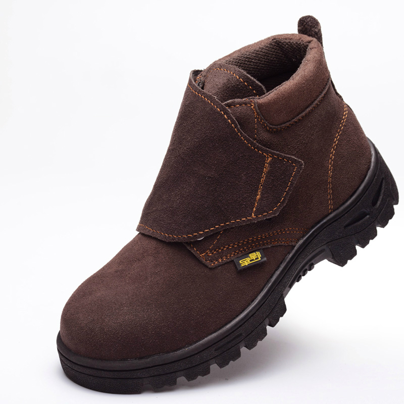big size men's breathable brown steel toe caps work safety welding shoes high top tooling ankle boots cow leather sapatos lace plus size men breathable dress shoe steel toe caps work safety summer shoes womens plate sole outdoors tooling low boots leather