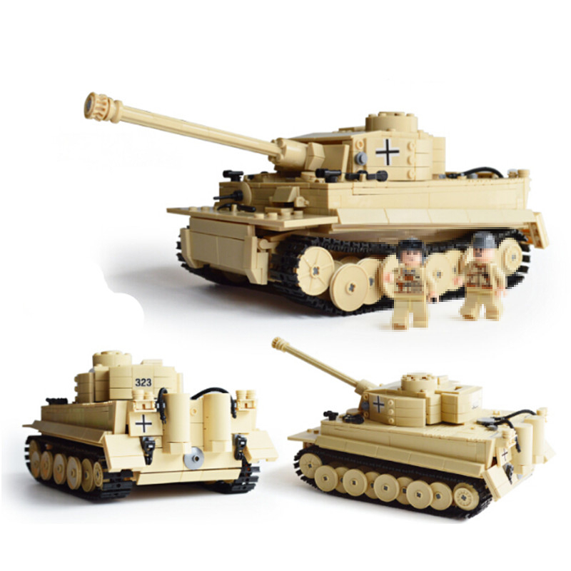 82011 995pcs Century Military Building Blocks German King Tiger Tank Blocks Education Toys Compatible legoes gift kid Military 548pcs military ww2 german panzer iii tank ausfl primary battle tank model building block assembly toy for kid christmans gift
