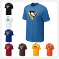 Barato Pittsburgh Penguins Camisetas Big & Tall Logo Fashion Penguins Camisetas Camisa de Algodón de Manga Corta Del O-cuello de La Camiseta