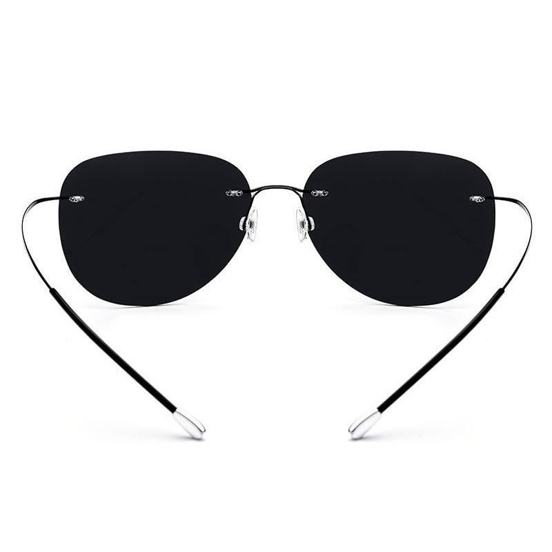 Image 4 - HDCRAFTER 9g Ultralight Rimless Sunglasses Titanium Men Brand Designer Frameless Polarized Sun Glasses Women Screwless Eyewear-in Men's Sunglasses from Apparel Accessories