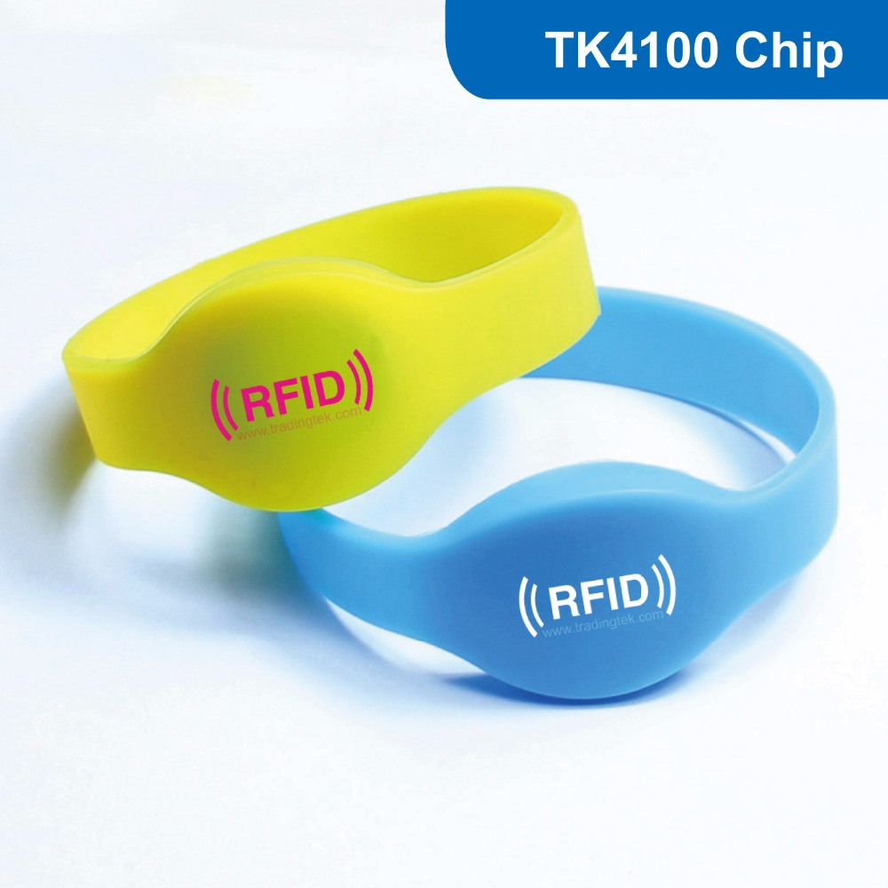 WB01 500pcs/lot Silicone RFID Wristband RF Bracelet ID Smart Tag Proximity Smart EM Card 125KHZ 64BITS R/O with TK4100 Chip