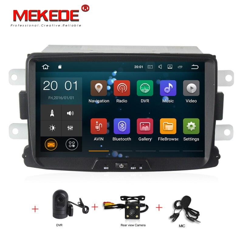 1024x600 PX3 Android 7.1 8 pouce VOITURE DVD GPS Pour Dacia Sandero Duster Renault Captur Lada Xray 2 logan 2 radio stéréo écran PC